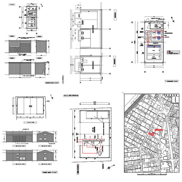 産業廃棄物処分業(中間処理)許可申請図面2(配置図・保管施設設計計算書・設備図・平面図・立面図・断面図・構造図・公図・付近見取図)